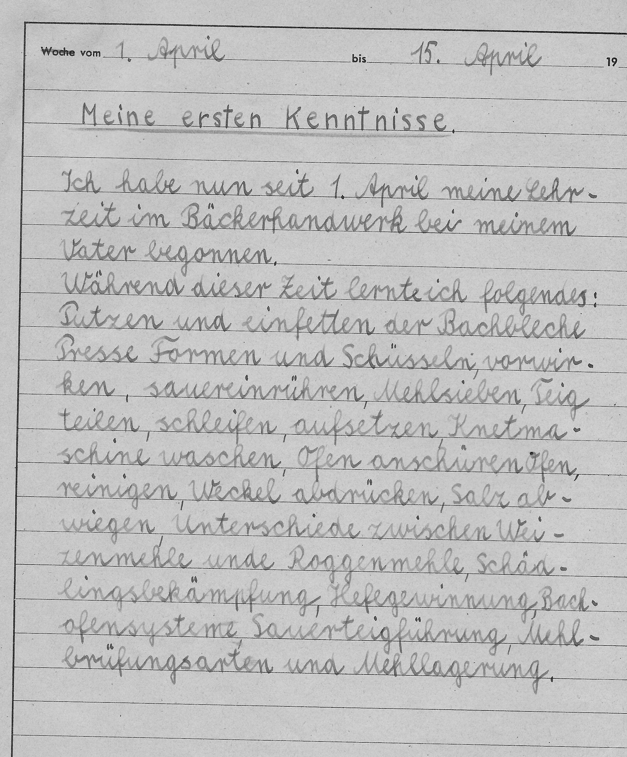 Werkstattwochenbuchs Riedle 1943