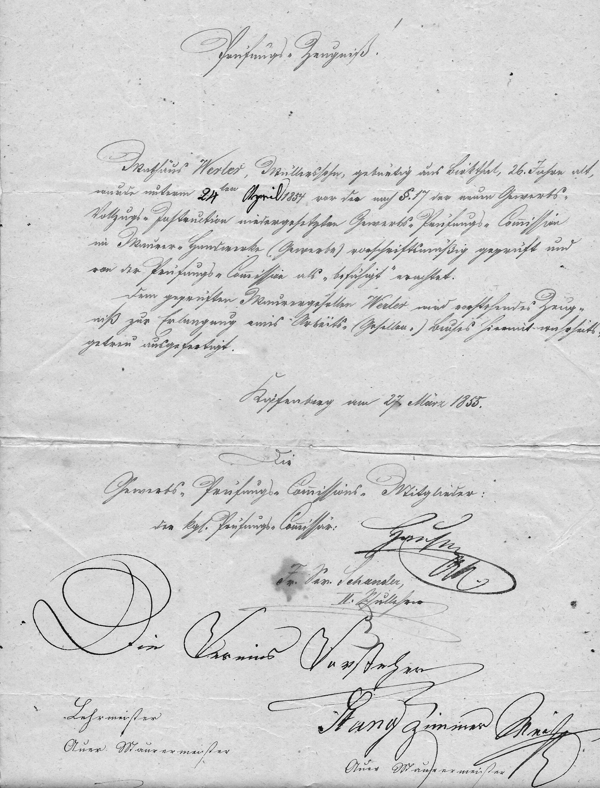 1 Prüfung Werler 1855 Org Ettle